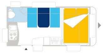Caravelair ALLEGRA 400 - Plano - Distribución