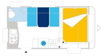 Caravelair ALLEGRA 410 - Plano - Distribución