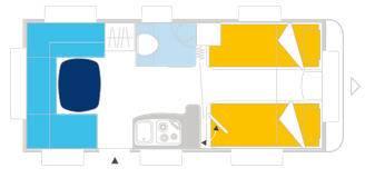 Caravelair ALLEGRA 450 - Plano - Distribución