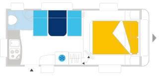 Caravelair ALLEGRA 485 - Plano - Distribución