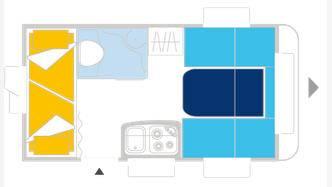 Caravelair ANTARES LUXE 376 - Plano - Distribución