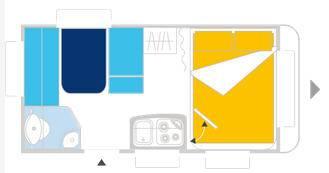 Caravelair ANTARES LUXE 390 - Plano - Distribución