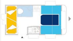 Caravelair Antares 376 - Plano - Distribución