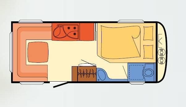 Dethleffs NOMAD 470 FR - Plano - Distribución