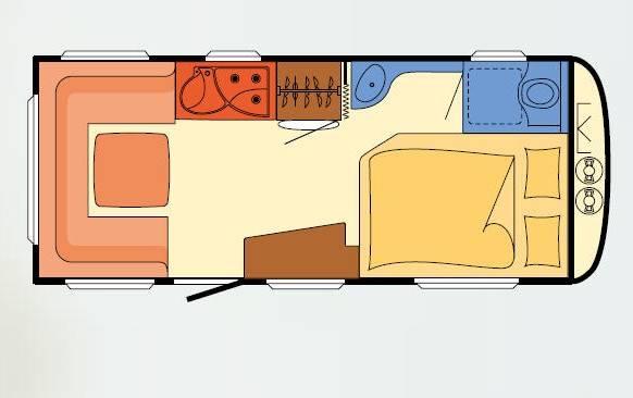 Dethleffs NOMAD 500 FR - Plano - Distribución
