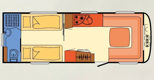 Dethleffs NOMAD 650 RET - Plano - Distribución