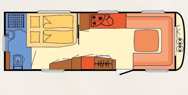 Dethleffs BEDUIN V.I.P. 650 RFT - Plano - Distribución