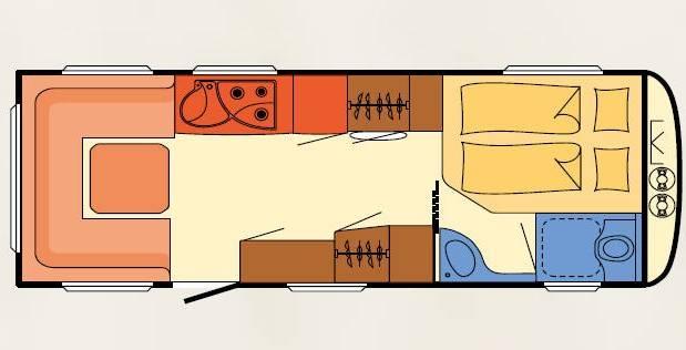 Dethleffs BEDUIN V.I.P. 670 FAR - Plano - Distribución