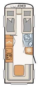 Dethleffs C'Trend 515 ER - Plano - Distribución