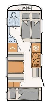 Dethleffs Camper 530 FSK - Plano - Distribución