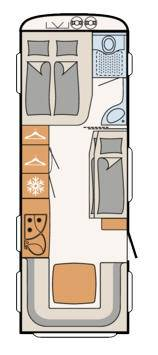 Dethleffs Camper 670 FKR - Plano - Distribución