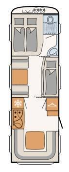 Dethleffs Camper 730 FKR - Plano - Distribución