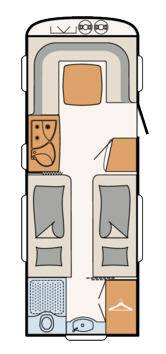 Dethleffs Nomad 520 RET - Plano - Distribución