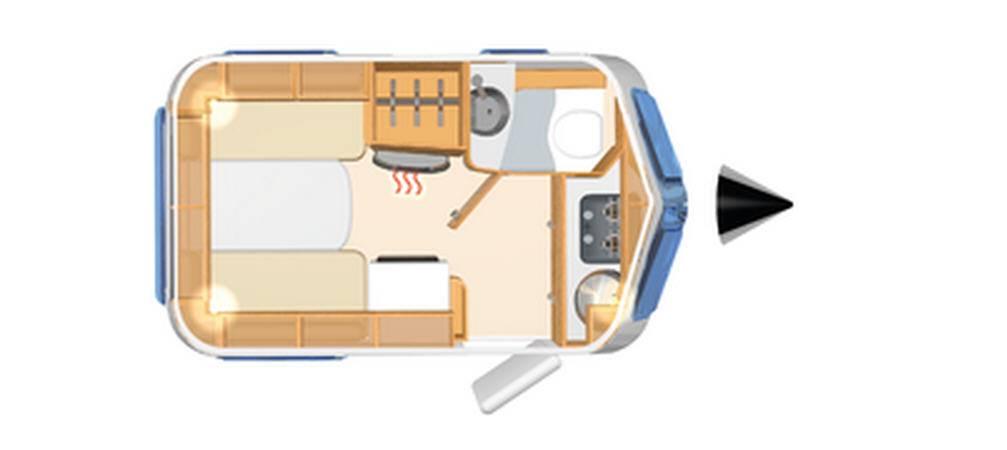Eriba TOURING Familia 320 - Plano - Distribución