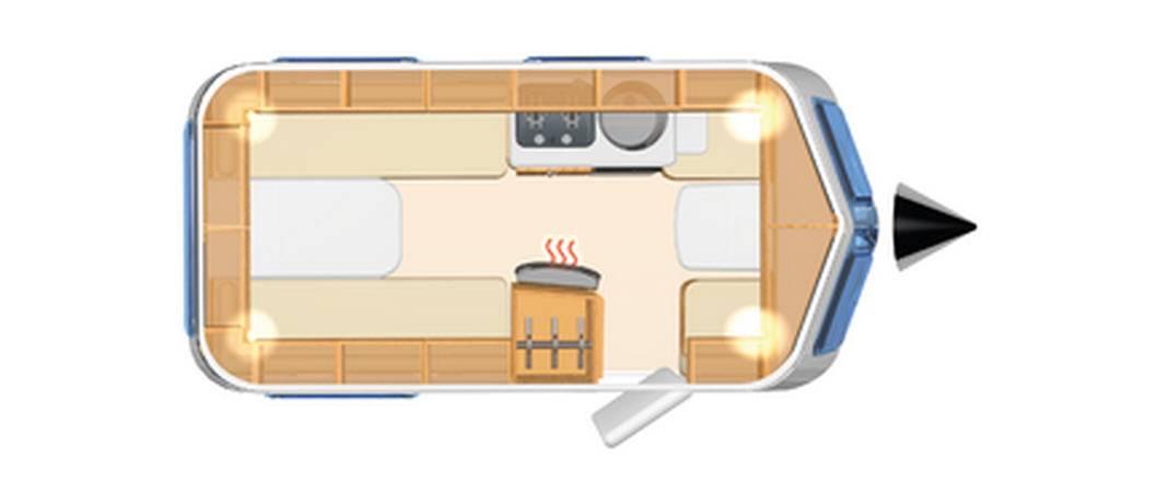 Eriba TOURING Triton 410 - Plano - Distribución