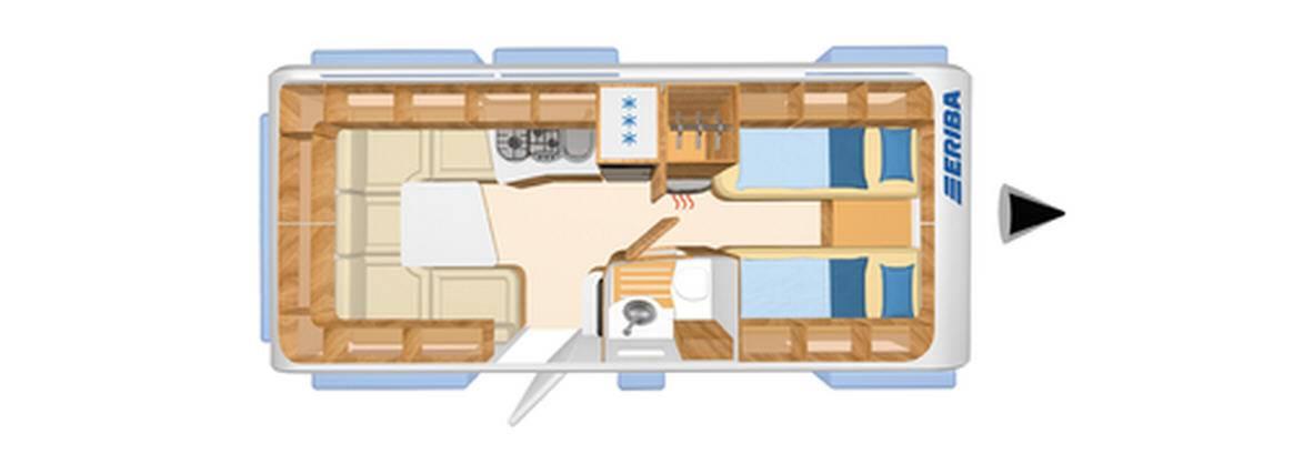Eriba NOVA GL 530 - Plano - Distribución