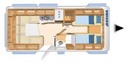 Eriba NOVA SL 530 - Plano - Distribución