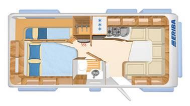 Eriba NOVA SL 595 - Plano - Distribución