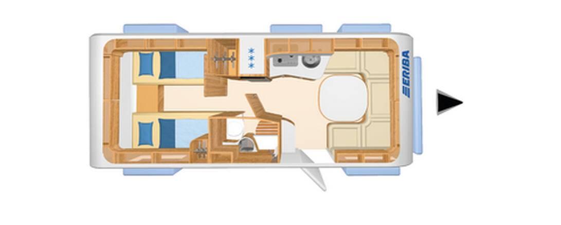 Eriba NOVA S 540 - Plano - Distribución