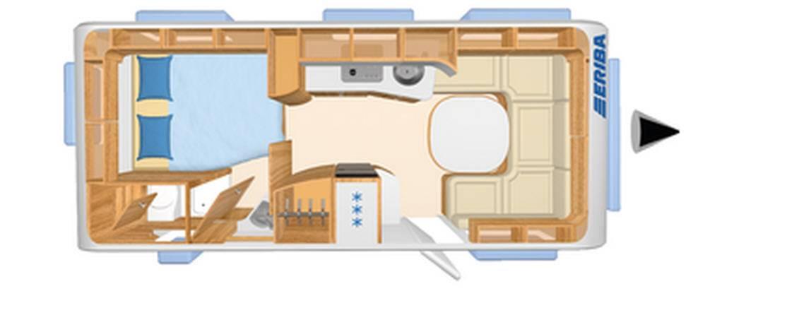 Eriba NOVA S 545 - Plano - Distribución