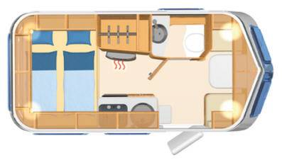 Eriba Touring Silver Troll 530 - Plano - Distribución
