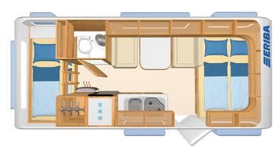 Eriba Living 525 - Plano - Distribución