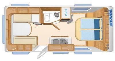 Eriba Living 550 - Plano - Distribución