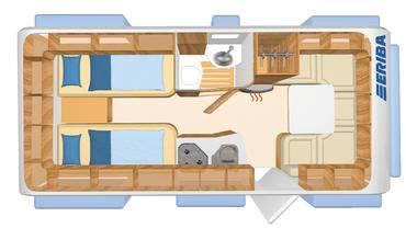Eriba Nova SL 495 - Plano - Distribución