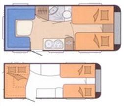 Hobby PRESTIGE 455 UF - Plano - Distribución