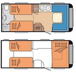 Hobby PRESTIGE 560 WLU - Plano - Distribución