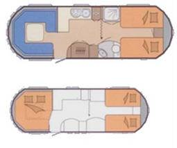 Hobby LANDHAUS 770 CL - Plano - Distribución