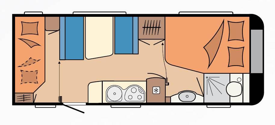 Hobby LUXE    540-KMFe - Plano - Distribución