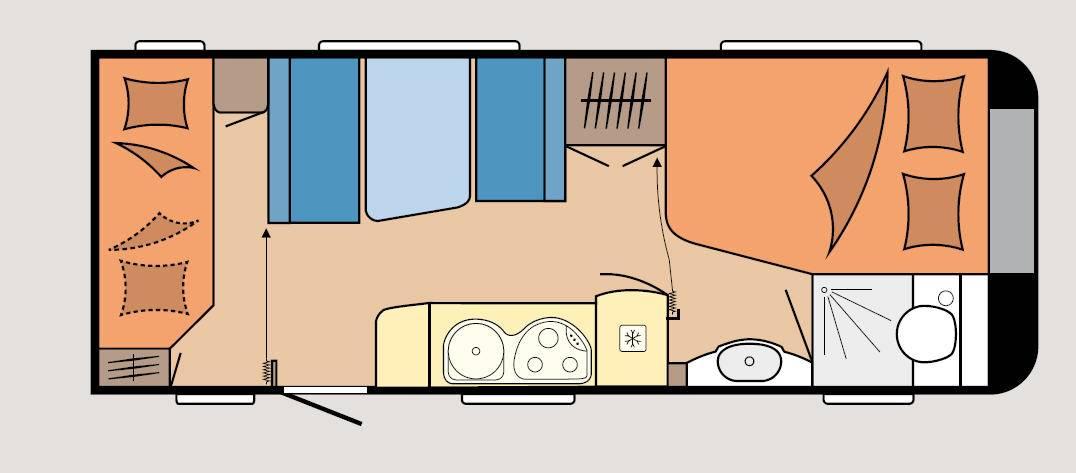Hobby PREMIUM 540-KMFE - Plano - Distribución