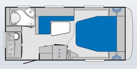 Knaus KNAUS Sport SP 460 XB - Plano - Distribución
