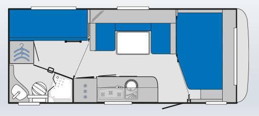 Knaus KNAUS Sport SP 580 QS - Plano - Distribución
