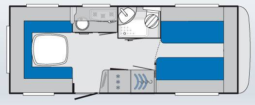 Knaus KNAUS Südwind SW 580 EU - Plano - Distribución