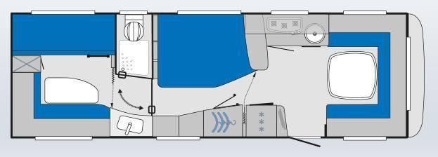 Knaus KNAUS Südwind Exclusive SW Exclusive 750 UKF - Plano - Distribución