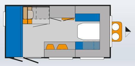 Knaus DESEO 400 VARIABLE 1 (LKK) - Plano - Distribución