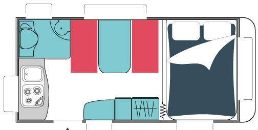 Sterckeman Alize Concept 420 CP - Plano - Distribución