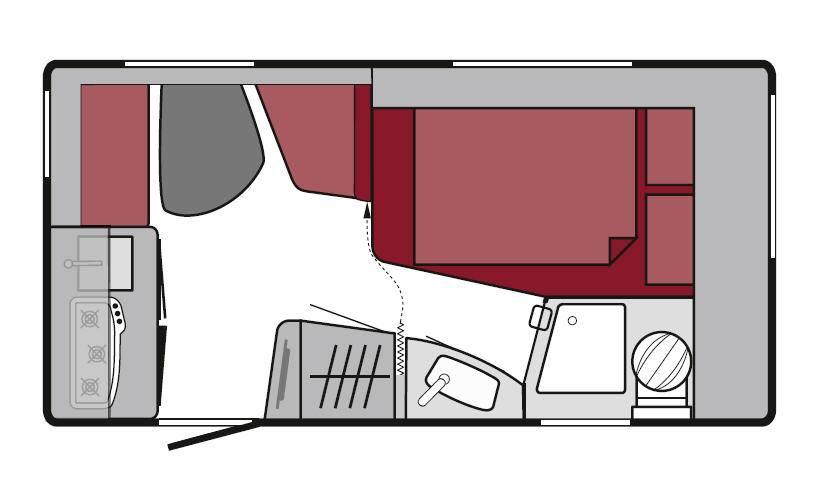 Tabbert Da Vinci 380 HK - Plano - Distribución