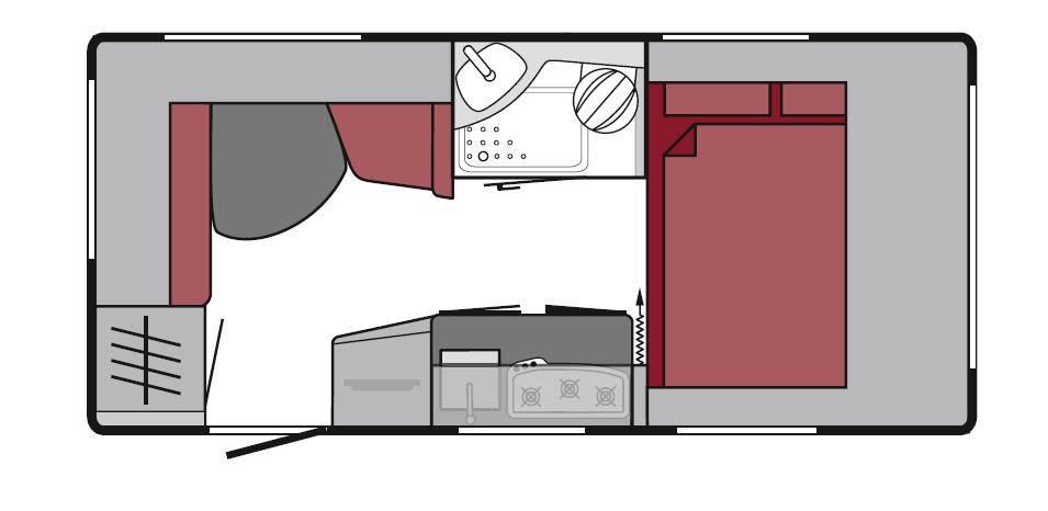 Tabbert Da Vinci 390 QD - Plano - Distribución