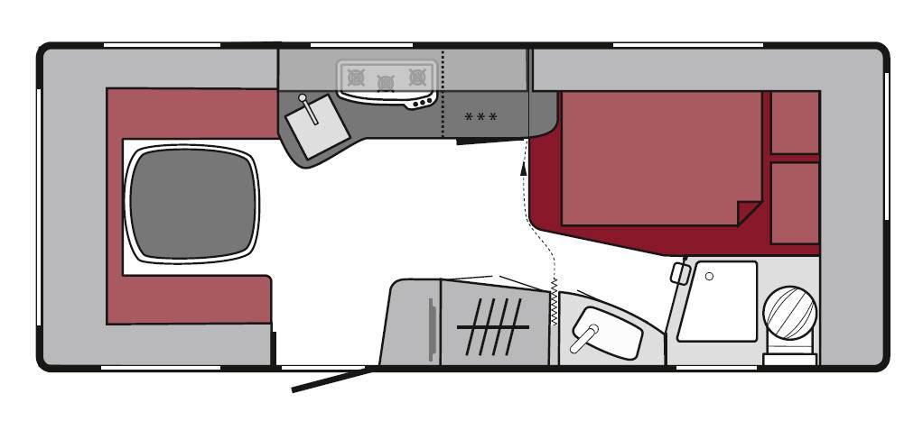 Tabbert Da Vinci 490 TD - Plano - Distribución