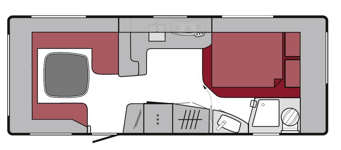Tabbert Da Vinci 560 TDL - Plano - Distribución