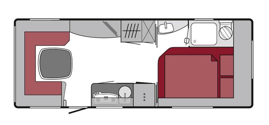 Tabbert Gran Puccini 560 TD - Plano - Distribución