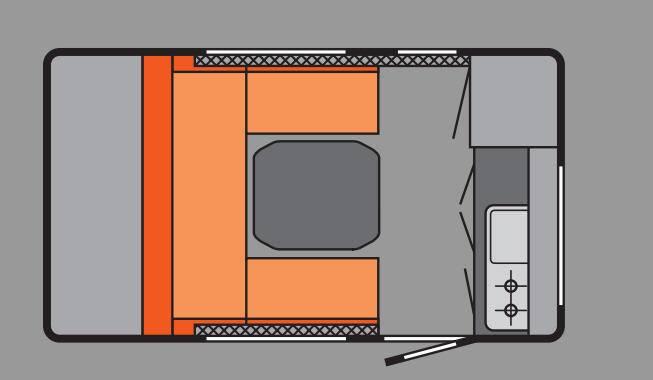 Tabbert TAB 320 RS 1,8 OFF-ROAD - Plano - Distribución
