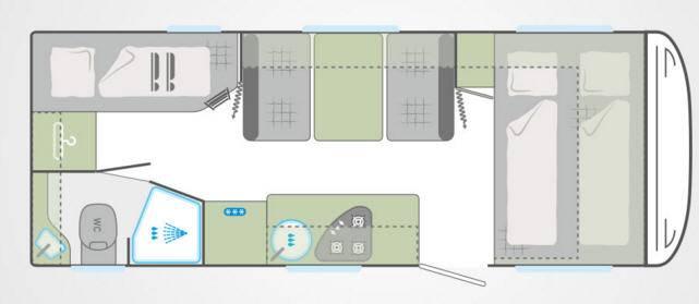 Weinsberg Cara One 550 QDK - Plano - Distribución