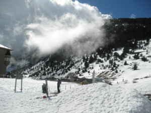 Esquiando en la Vall de Núria