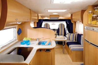 Autocaravana elnagh baron 420 l modelo de 2008 - Interior caravana ...