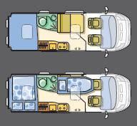 Adria Twin Twin SP - Titan-Metal - Plano - Distribución