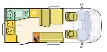 Adria MATRIX Axess M 590 SG - Plano - Distribución